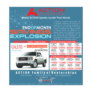 Action Dealership Newspaper Ad