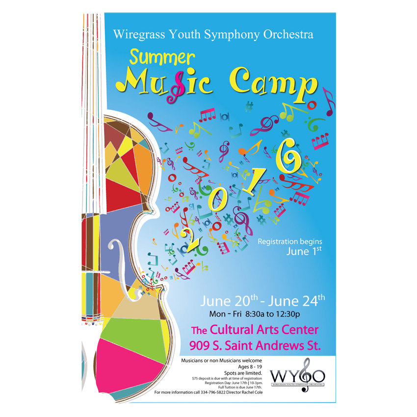 WYSO Music Camp Wall Poster Design